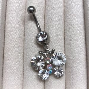 Jewelry - Crystal belly button ring - new